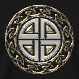 Celtic shield knot, Protection Amulet, Germanic,  T-Shirts - Men's Premium T-Shirt