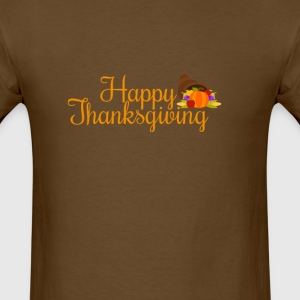happy thanksgiving turkey day  T-Shirts - Men's T-Shirt