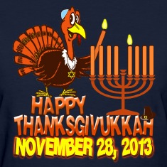 Happy Thanksgivukkah Hanukkah 2013 Womens Shirt