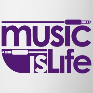 Music is Life Bottles & Mugs - Coffee/Tea Mug