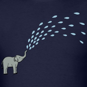 babyelephant wih water T-Shirts - Men's T-Shirt