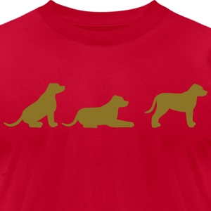 sit down stay american stafford T-Shirts - Men's T-Shirt by American Apparel