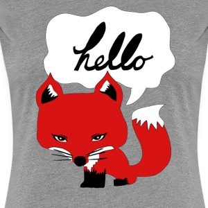 The Fox Says Hello Tee - Women's Premium T-Shirt