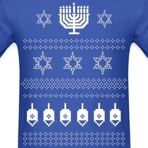 Happy Hanukkah Ugly Christmas Jewish Sweater T Shi - Men's T-Shirt