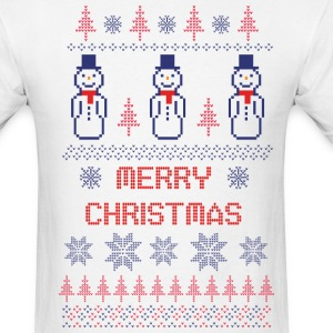 Ugly Christmas Sweater Snowmen Shirt - Men's T-Shirt