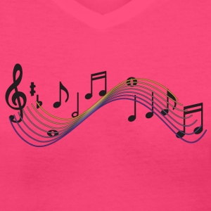 Music - Women's V-Neck T-Shirt