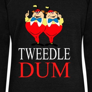 tweedle dum  Long Sleeve Shirts - Women's Wideneck Sweatshirt