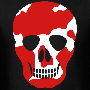 Red White Skull  - Men's T-Shirt