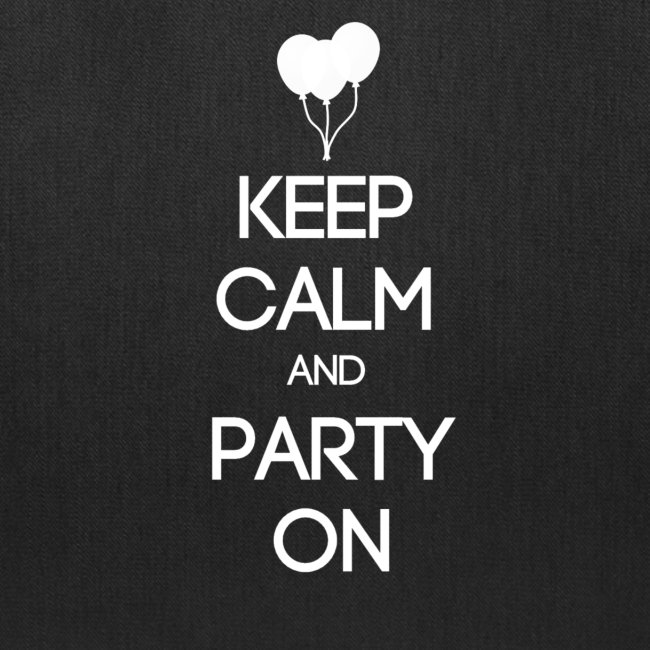 ESFP ~ Keep Calm and Party On Tote Bag