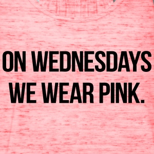 On Wednesdays We Wear Pink Tanks - Women's Flowy Tank Top by Bella
