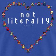 Design ~ I Ship It - Pixel Characters Heart Men's Tee
