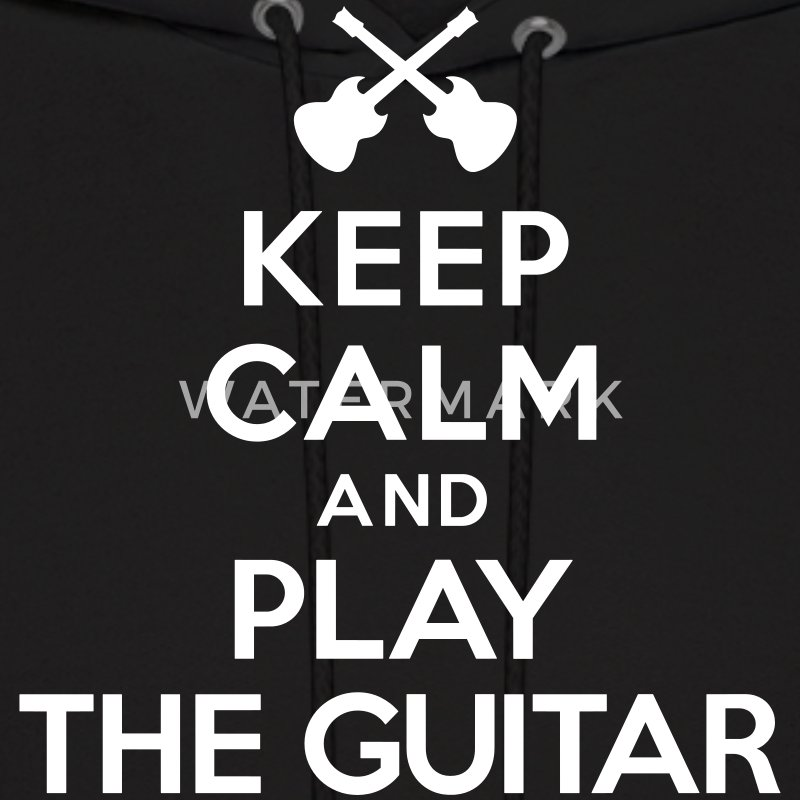 Keep calm and play the guitar Hoodies - Men's Hoodie