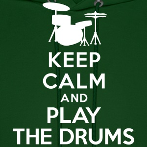 Keep calm and play the drums Hoodies - Men's Hoodie