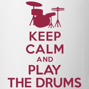 Keep calm and play the drums Bottles & Mugs - Coffee/Tea Mug