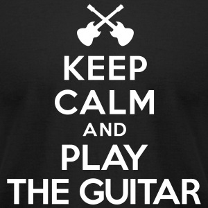 Keep calm and play the guitar T-Shirts - Men's T-Shirt by American Apparel