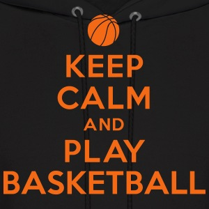 Keep calm and play Basketball Hoodies - Men's Hoodie