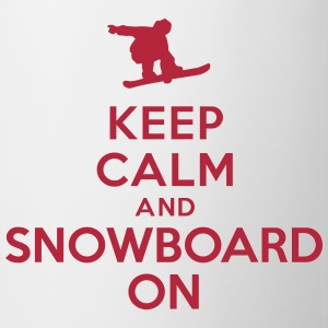 Keep calm and snowboard on Bottles & Mugs - Coffee/Tea Mug