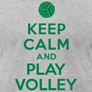 Keep calm and play Volley T-Shirts - Men's T-Shirt by American Apparel