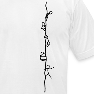 Rope climber - Free climber T-Shirts - Men's T-Shirt by American Apparel