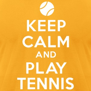 Keep calm and play tennis T-Shirts - Men's T-Shirt by American Apparel