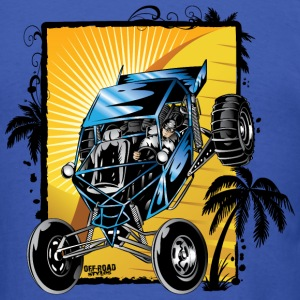 Blue Downhill Dune Buggy T-Shirts - Men's T-Shirt