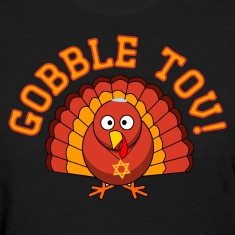 Gobble Tov Thanksgivukkah Turkey Womens T-shirt