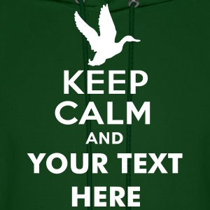 keep_calm_and_duck_hunt_text Hoodies - Men's Hoodie