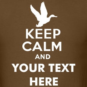 keep_calm_and_duck_hunt_text T-Shirts - Men's T-Shirt