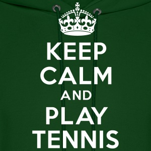 Keep calm and play tennis Hoodies - Men's Hoodie