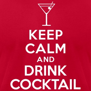 Keep calm and drink cocktail T-Shirts - Men's T-Shirt by American Apparel