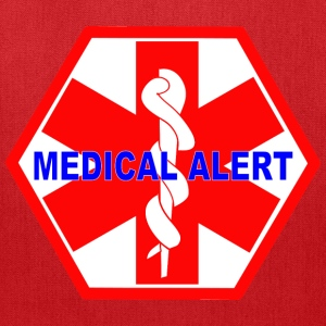 MEDICAL ALERT HEALTH IDENTIFICATION  SIGN Bags & backpacks - Tote Bag