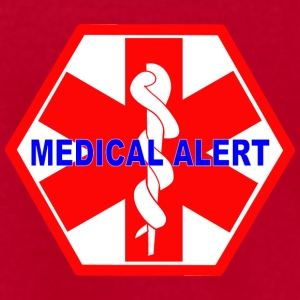 MEDICAL ALERT HEALTH IDENTIFICATION  SIGN T-Shirts - Men's T-Shirt by American Apparel
