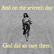 Design ~ MENS RUNNING T SHIRT – GOD EASY THREE