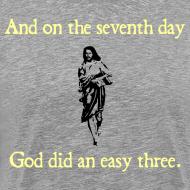 Design ~ MENS RUNNING T SHIRT – GOD EASY THREE