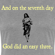 Design ~ WOMENS RUNNING T SHIRT – GOD EASY THREE