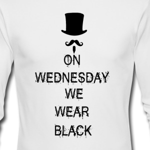 On Wednesday We Wear Black Long Sleeve Shirts - Men's Long Sleeve T-Shirt by Next Level