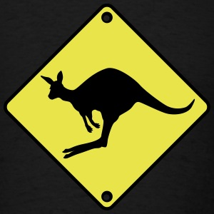 Kangaroo road sign T-Shirts - Men's T-Shirt