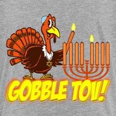 Thanksgivukkah Gobble Tov Turkey Kids T-shirt