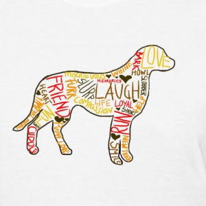 Dog Outline - Women's T-Shirt