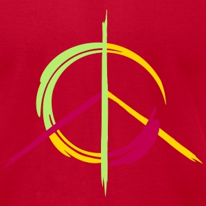A colorful peace symbol as a graffito T-Shirts - Men's T-Shirt by American Apparel
