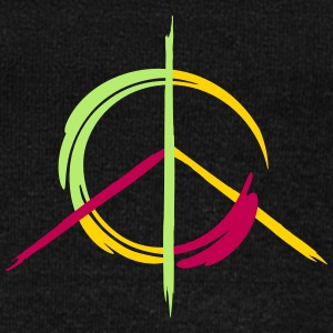 A colorful peace symbol as a graffito Long Sleeve Shirts - Women's Wideneck Sweatshirt