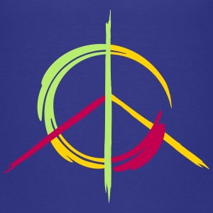 A colorful peace symbol as a graffito Baby & Toddler Shirts - Toddler Premium T-Shirt