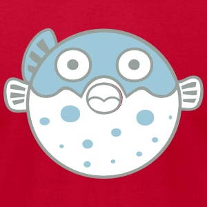 Fugu Blowfish T-Shirts - Men's T-Shirt by American Apparel