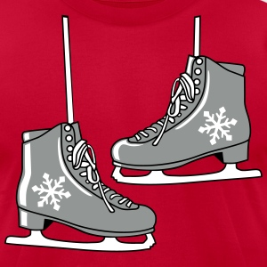 Ice skates T-Shirts - Men's T-Shirt by American Apparel