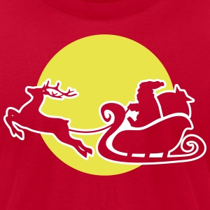 Christmas: Santa - in his sleigh T-Shirts - Men's T-Shirt by American Apparel