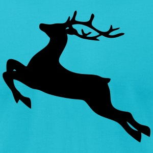 Christmas: a reindeer T-shirts - T-shirt pour hommes American Apparel