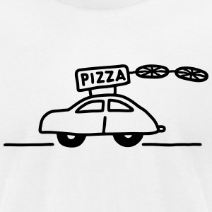 Car Pizza - Pizzeria T-Shirts - Men's T-Shirt by American Apparel