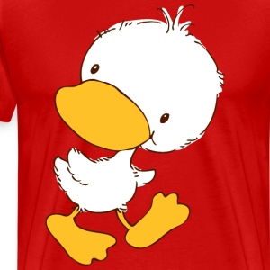 Duckling looking back T-Shirts - Men's Premium T-Shirt