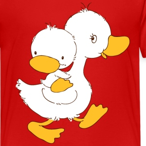 Duckling on mothers back Kids' Shirts - Kids' Premium T-Shirt