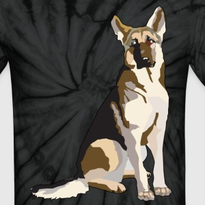 German Shepherd - Unisex Tie Dye T-Shirt